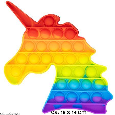 BUT-005 Bubble Toy Rainbow Einhorn Unicorn