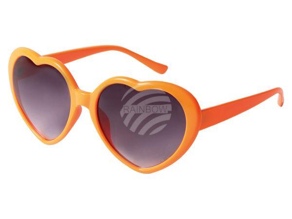 F-057 Herz Funbrille  orange