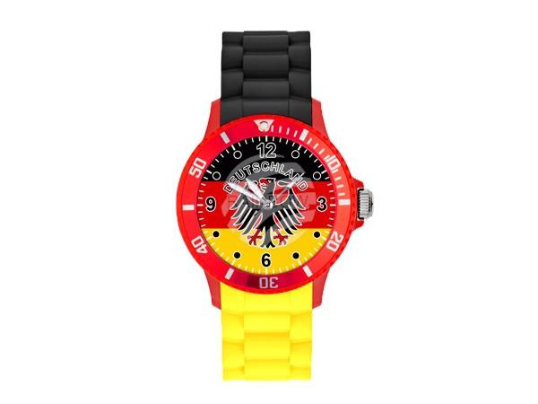 UR-DE1 Uhren Armbanduhren Länderuhren Deutschland schwarz gelb Ø ca. 4,4 cm