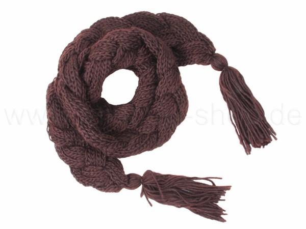 SCH-31braun Damen Schal unifarben braun