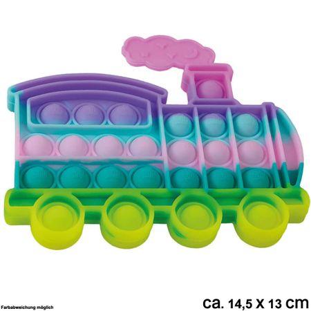 BUT-058a Bubble Toy Pastell Lokomotive ca. 14,5 cm x 13 cm